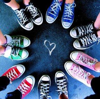 Converse-1 shoes friends