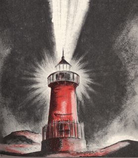 Happy little red lighthouse